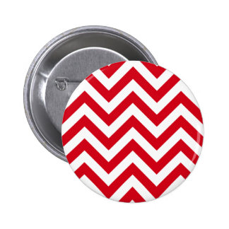 Zigzag Chevron Pattern in red color Pinback Button