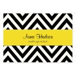 Zigzag (Chevron), rayas, líneas - amarillo negro Tarjetas De Visita