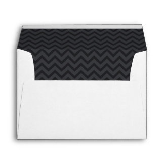 Zigzag (Chevron), rayas, líneas - gris Sobres