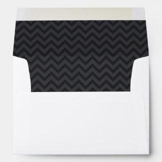Zigzag (Chevron), Stripes, Lines - Gray Envelope