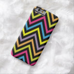 Zigzag (Chevron), Stripes, Lines - Green Blue Pink Barely There iPhone 6 Case