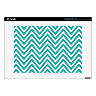 """Zigzag (Chevron), Stripes, Lines - White Blue Decals For 15"""" Laptops"""