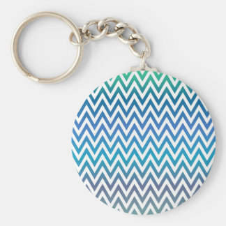 zigzag, colorful, funny, blue and green keychain