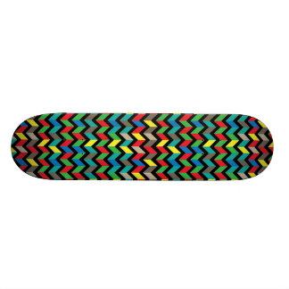 ZigZag Colorful Skateboard