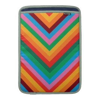 Zigzag colorido Chevron del arco iris Funda Para Macbook Air