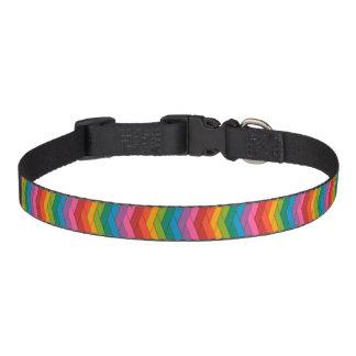 Zigzag Colors Dog Collar