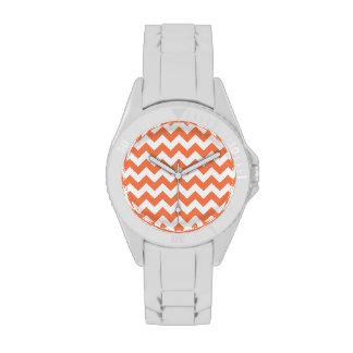 Zigzag coralino relojes de pulsera