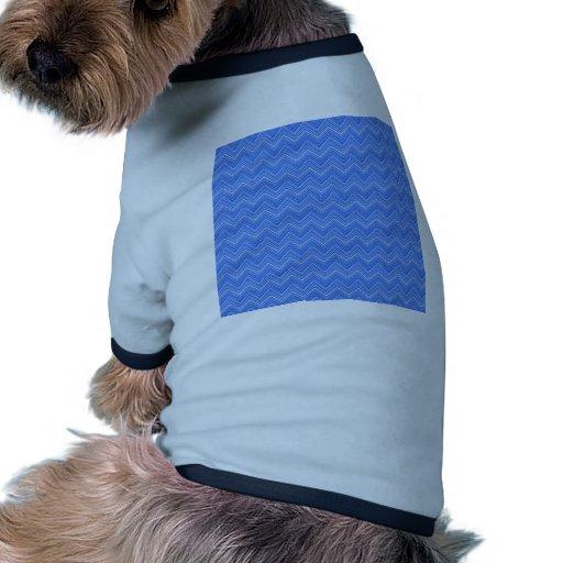 Zigzag de Chevron 03, azul Camiseta De Mascota