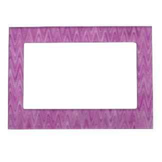 Zigzag de la frambuesa - modelo abstracto rosado marcos magneticos para fotos