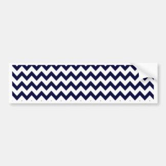 Zigzag de los azules marinos en blanco pegatina para auto