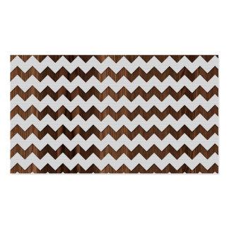 Zigzag de madera con la impresión blanca de la ima tarjetas de visita