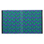 Zigzag de papel verde y púrpura