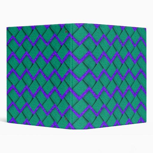"""Zigzag de papel verde y púrpura carpeta 1"""""""