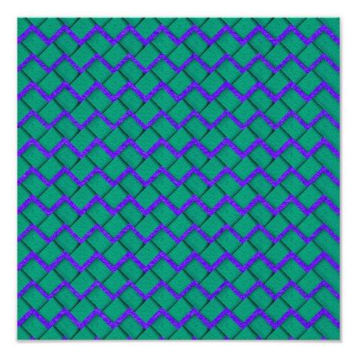 Zigzag de papel verde y púrpura fotografías