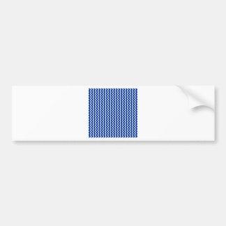 Zigzag de par en par - azul claro y azules marinos pegatina de parachoque