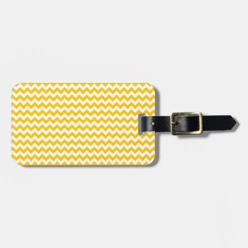 Zigzag de par en par - blanco y amarillo de la man etiquetas bolsa