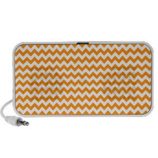Zigzag de par en par - blanco y anaranjado oscuro iPod altavoz