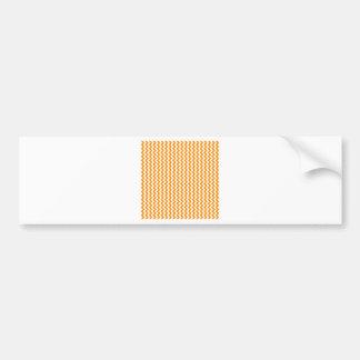 Zigzag de par en par - blanco y anaranjado oscuro etiqueta de parachoque