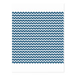 Zigzag de par en par - blanco y añil (tinte) tarjetas postales