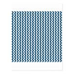 Zigzag de par en par - blanco y añil (tinte) postales
