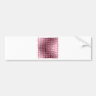 Zigzag de par en par - blanco y Borgoña Pegatina Para Auto