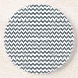 Zigzag de par en par - blanco y carbón de leña posavasos diseño