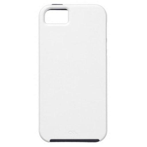 Zigzag de par en par - blanco y lino funda para iPhone 5 tough