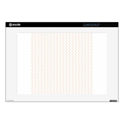 Zigzag de par en par - blanco y lino portátil skins