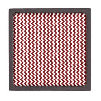 Zigzag de par en par - blanco y marrón caja de joyas de calidad