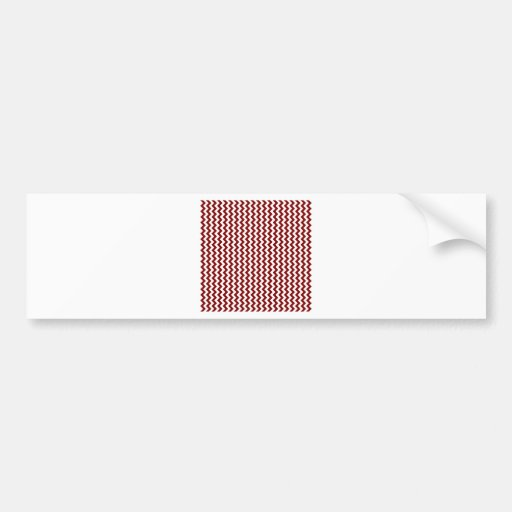 Zigzag de par en par - blanco y marrón pegatina de parachoque