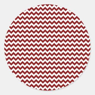 Zigzag de par en par - blanco y marrón pegatinas
