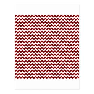 Zigzag de par en par - blanco y marrón postal