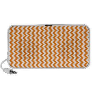Zigzag de par en par - blanco y naranja laptop altavoces