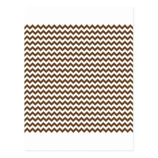 Zigzag de par en par - blanco y nariz de Brown Tarjetas Postales