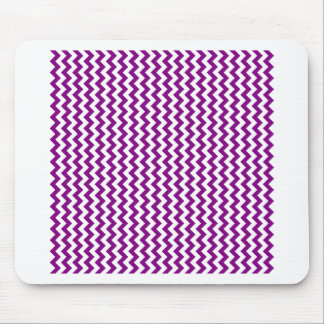 Zigzag de par en par - blanco y púrpura tapetes de raton