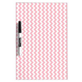Zigzag de par en par - blanco y rosa claro pizarras