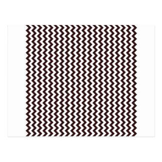 Zigzag de par en par - blanco y sello Brown Postales