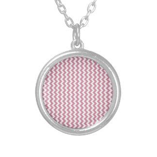 Zigzag de par en par - cordón rosado y Puce Joyerias Personalizadas