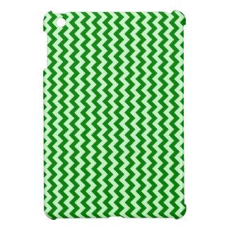 Zigzag de par en par - Offwhitegreen y verde iPad Mini Funda