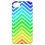 Zigzag del arco iris iPhone 5 Case-Mate coberturas