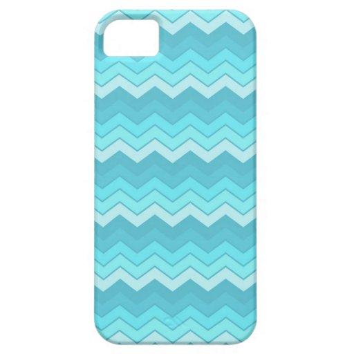 Zigzag del azul de las olas oceánicas iPhone 5 Case-Mate coberturas
