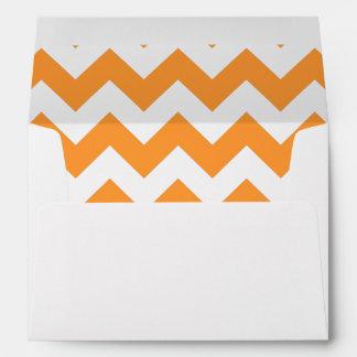 Zigzag del naranja FF9933 Sobre
