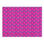 Zigzag del papel rosado y azul postal