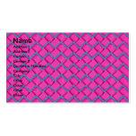 Zigzag del papel rosado y azul tarjetas de visita
