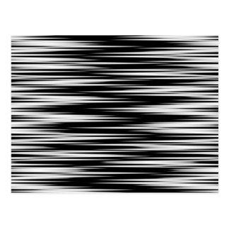 Zigzag dentado blanco y negro tarjetas postales