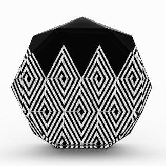 Zigzag Diamond Chevron Tribal pattern Acrylic Award
