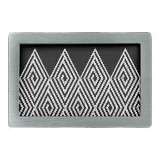 Zigzag Diamond Chevron Tribal pattern Belt Buckle