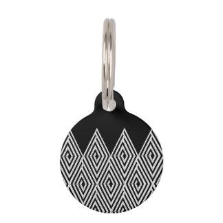 Zigzag Diamond Chevron Tribal pattern Pet ID Tag