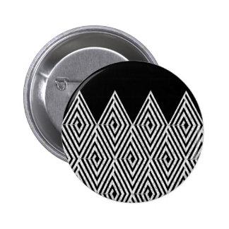 Zigzag Diamond Chevron Tribal pattern Pinback Button