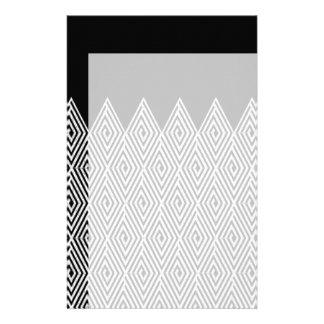 Zigzag Diamond Chevron Tribal pattern Stationery
